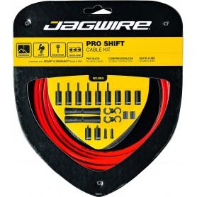 JAGWIRE Schaltzugset 2X Pro Shift Road & Mountain rot