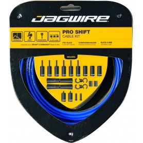 JAGWIRE Derailleur cable set 2X Pro Shift Road & Mountain SRAM / Shimano SID Blue