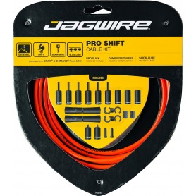 JAGWIRE Schaltzugset 2X Pro Shift Road & Mountain orange