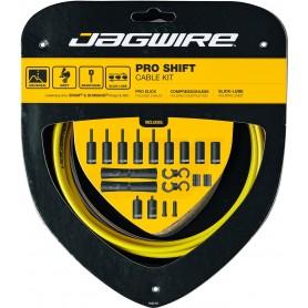 JAGWIRE Schaltzugset 2X Pro Shift Road & Mountain gelb