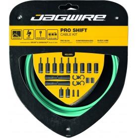 JAGWIRE Schaltzugset 2X Pro Shift Road & Mountain SRAM / Shimano Bianchi Celeste