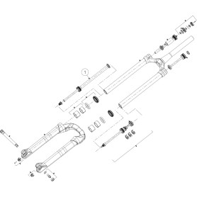 Manitou Rebound damper Mattoc Pro 26/27.5 inch Boost