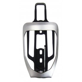 Universal Bottle holder silver matt black