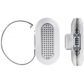 Master Lock Mini Safe 5900 integrated steel cable white
