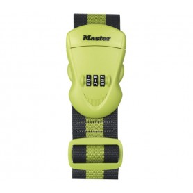 Master Lock Gepäckgurt mit Zahlenschloss 95-200 cm Grün