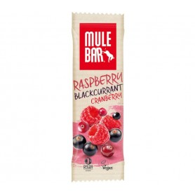 MuleBar Raspberry Blackcurrant Cranberry pack of 15 bars each 40 g