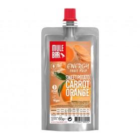 MuleBar Fruit Pulp Sweet Potato Carrot orange pack of 10 bars each 65 g