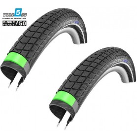 2x Schwalbe Big Ben Plus SnakeSkin bicycle tyre 50-622 GG E-50 wired reflective black