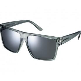 Shimano Sun glasses Square Transparent Grey glass smoke silver mirrored