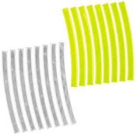 Reflexaufkleber STRIPES, 3M-Reflex gelb/weiß, Messingschlager, 120992