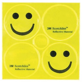 Reflex Stickers SMILE yellow, 3M-Reflex