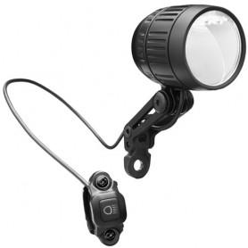 Scheinwerfer Lumotec IQ-XM, mit K~, B+M, schwarz, LED, 80 Lux, Fernlicht, E-Bike, Busch + Müller, 168RU65-01