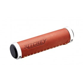Ritchey Classic Lock-On grips 128mm 33.0mm real leather brown