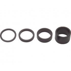 PRO Spacer set ALU 1 1/8 inch (28.6mm) black