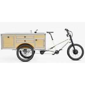 Radkutsche Lastenrad Musketier E-Bike Pedelec, Aufbau: Gastro
