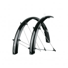 SKS Bluemels black wheel guard Mudguard Vorn Hinten SET 20 inch -28 inch