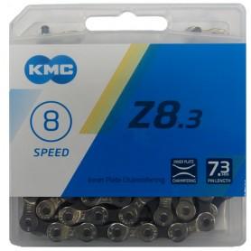 Chain KMC Z8 Silver/Grey 114 Links, silver/grey, Box