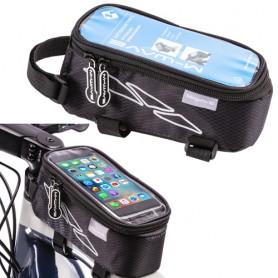 M-Wave Oberrohrtasche Rotterdam Top XL , für Smartphone, schwarz