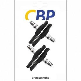 Brake Shoe CBP V-Brake screw asymm black 70 mm 2 Pair for Alu-rim