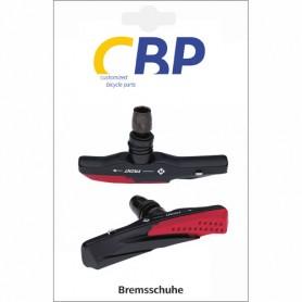 Brake Shoe CBP V-Brake screw asymm black-red 72 mm 1 Pair for Alu-rim