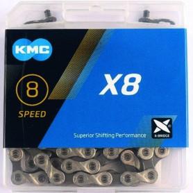 KMC Chain X8 Silver/grey 114 Links silver/grey Box