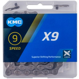 KMC Chain X9 Grey 114 Links grey Box