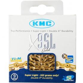 KMC Chain X9SL 114 Links gold Box