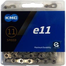 KMC Chain e11 Silver E-Bike 122 Links silver Box