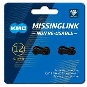 "KMC MissingLink 12 NR DLC 1/2 x 11/128"" black 12 spd,"