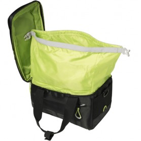 Basil Carrier Bag MILES MIK 7 l black/lime with MIK Adapter Plate