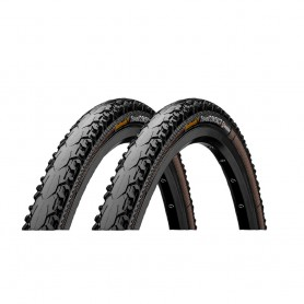 2x Continental CONTACT Travel Duraskin bicycle tyre 50-622 E-25 wired black