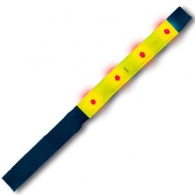 4-act Arm-/Knöchelband PVC-Reflex 4 LEDs gelb 2,5cm x 42cm Paar