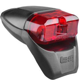 Busch + Müller E-Bike-Tallight with StVZO LED black for Mudguard