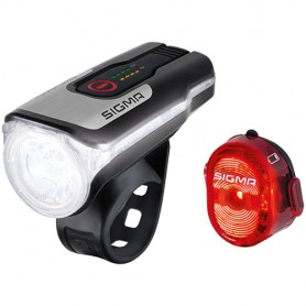 Sigma Licht Set Aura 80 USB & Nugget II Sigma 80 Lux black red with certif~