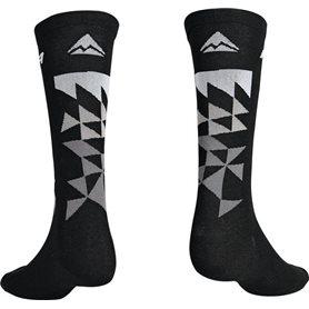 Merida Socken MTB Design Lang schwarz grau M (40-42) Schwarz/grau