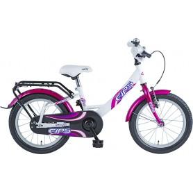 BBF Kinderrad Fips 16 Zoll 2019/20 violett weiß RH 24 cm