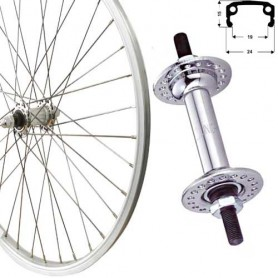 "Roland Front Wheel 18"" silver box type-aluminium,steel hub"
