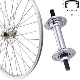 "Roland Front Wheel 20"" silver box type-aluminium,steel hub"