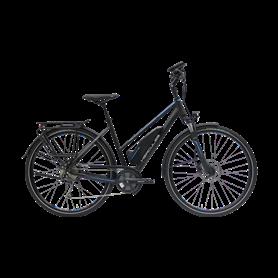 Hercules Alassio Sport 9 E-Bike 2020 trapeze 28 inch black matt frame size 53 cm