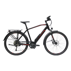 Hercules Alassio Pro 10 E-Bike 2020 Trekking 28 inch black matt frame size 61 cm
