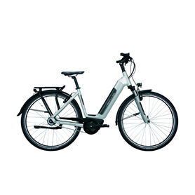 Hercules Robert/a I-R8 E-Bike 2020 central tube 28 inch 400 Wh silver 45 cm