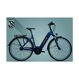 Hercules Robert/a I-R8 Belt E-Bike 2020 central tube 28 inch night blue 49 cm