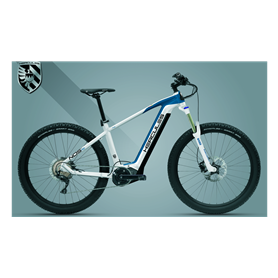 Hercules NOS Sport 1.1 E-Bike 2020 27.5+ inch white shiny blue matt 41 cm