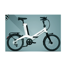 Hercules Futura Fold Carbon E-Folding bike 2020 20 inch 250 Wh white shiny 50 cm