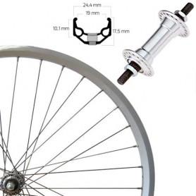 "Roland Front Wheel 28"" silver ZAC19, aluminium hub"