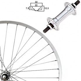 "Roland Front Wheel 28"" Niro Niro-Wwood, aluminium hub"