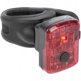 Accu-Taillight Helios K 1.1 USB with cert~ M-Wave LED black