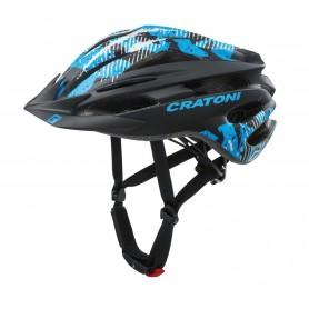 Cratoni Fahrradhelm Pacer (MTB) Gr. S/M (54-58cm) schwarz/blau matt