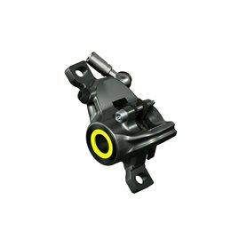 Magura Bremszange MT8 SL, mystic grey, Blende neon rot u. neon gelb, drehbarer Leitungsanschluss, mit Bremsbelägen, ab MJ2019