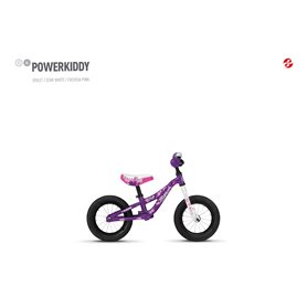 Ghost Powerkiddy AL 12 K Kids bike 2020 12 inch violet RH 16.5 cm
